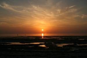 Qatar West coast sunset