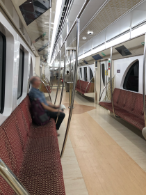 standard seating on Doha Metro