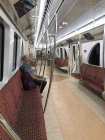 standard seating on Doha Metro