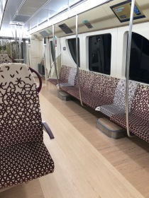 family seating on Doha Metro
