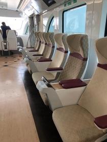 goldclub seating on Doha Metro